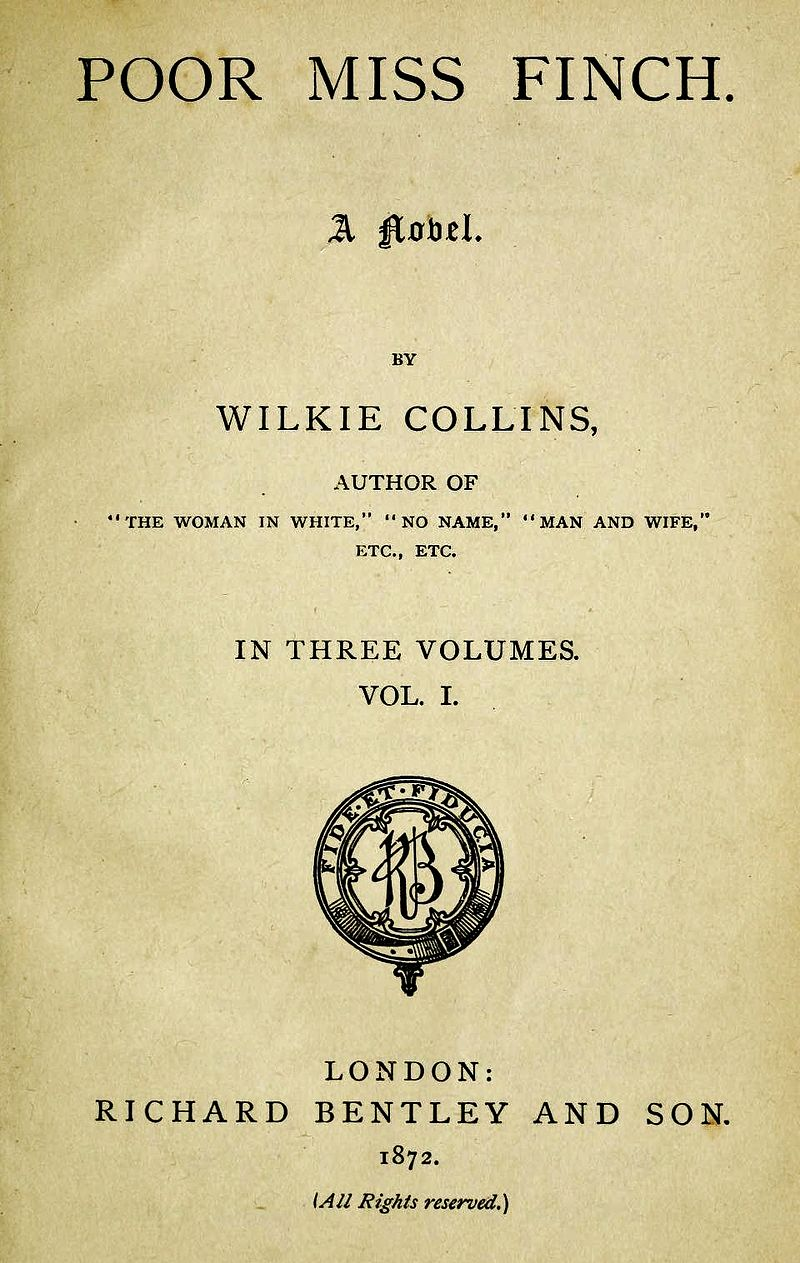 First edition of Poor Miss Finch (1872). Public domain.