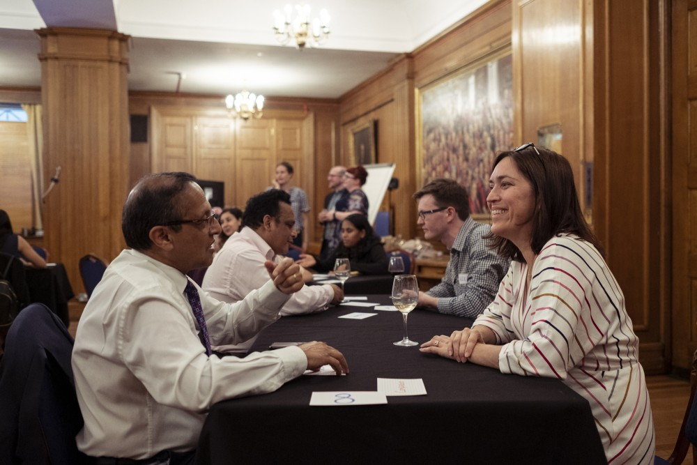 Pairs chatted about the emotional dimensions of surgery. (Photo: Ameena Rojee.)