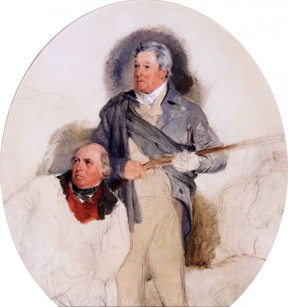 Edwin Henry Landseer, The Duke of Atholl and his gamekeeper, John Crerar, a study for Death of the Stag in Glen Tilt (1830). Wiki Commons.