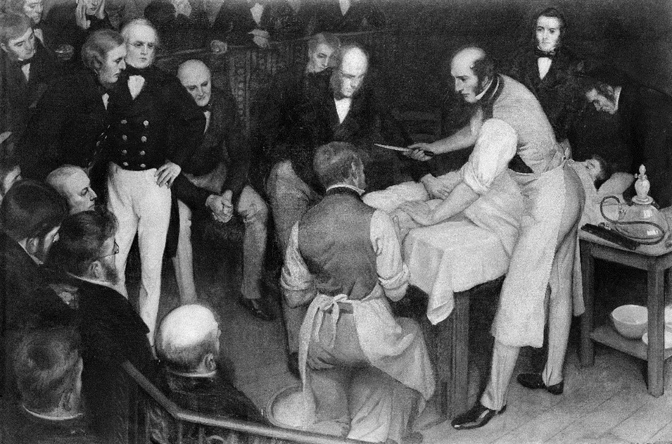 Ernest Board, 'Robert Liston operating' (1912). Wellcome Images.