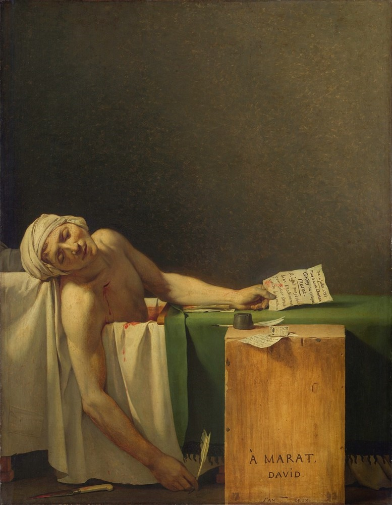 Fig. 9 – Jacques-Louis David, The Death of Marat (1793). Wikimedia Commons.
