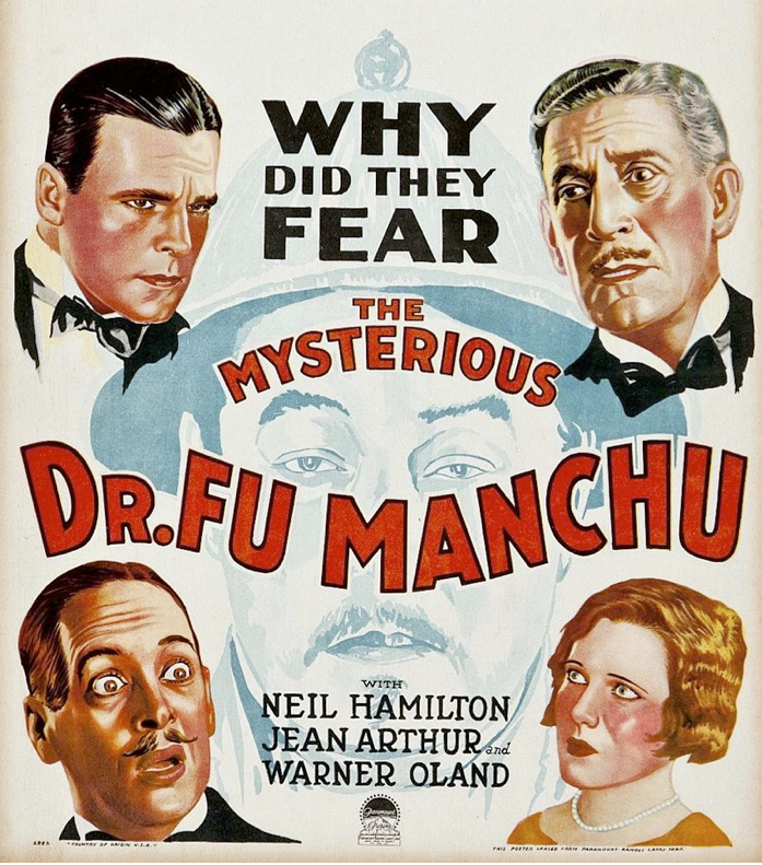 "Dr Fu Manchu, the sinister ""arch-murderer"" and hater of the white race, was created by the English writer Arthur Ward under the pseudonym Sax Rohmer. Many of his dastardly plans had medical themes."