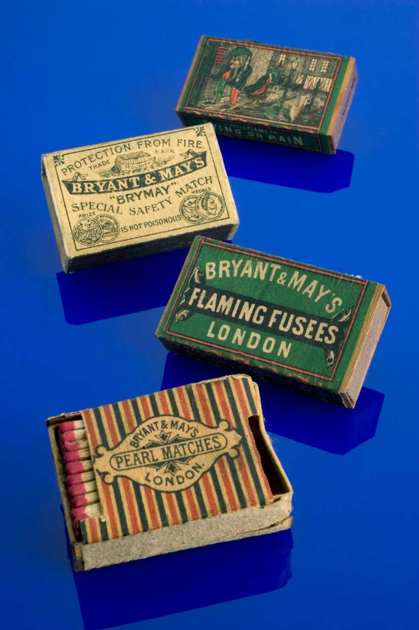 Bryant and May 'Pearl' Safety Matches, London, 1890-91. Image courtesy Science Museum, London.  Making matches in the 19th century had severe occupational risks. Phossy jaw, named after the poisonous yellow phosphorus in the matches, disfigured and killed match workers.