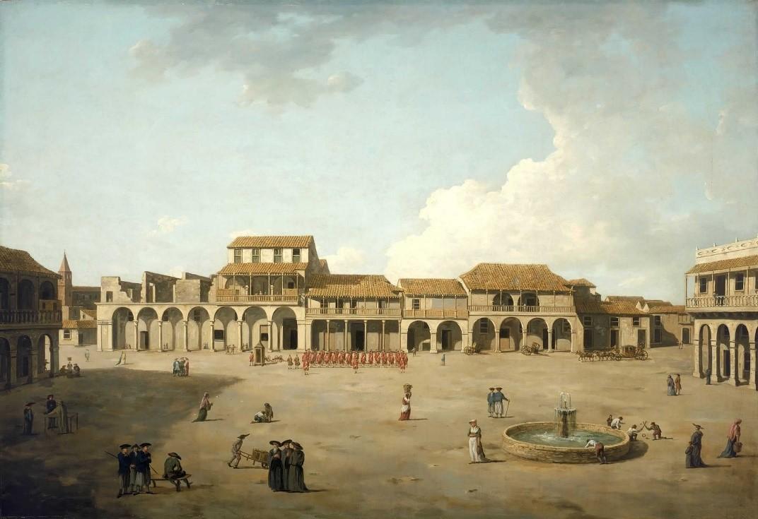 Dominic Serres, The Piazza at Havana, c. 1762 (Wikimedia Commons)