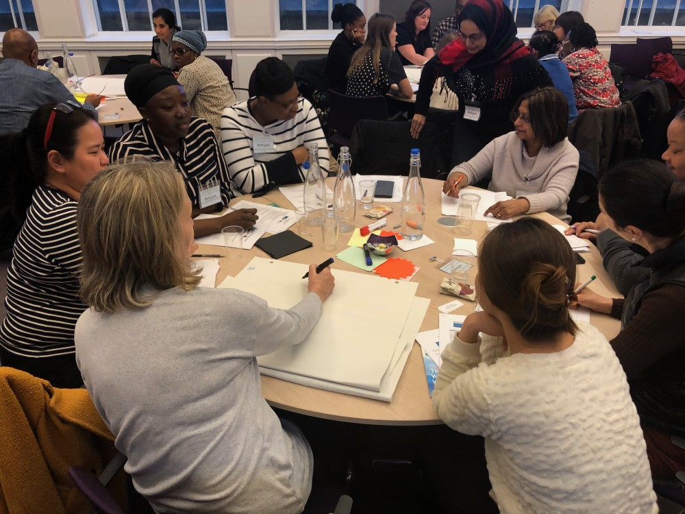 Breakout groups discussed challenges in their work and solutions for change.