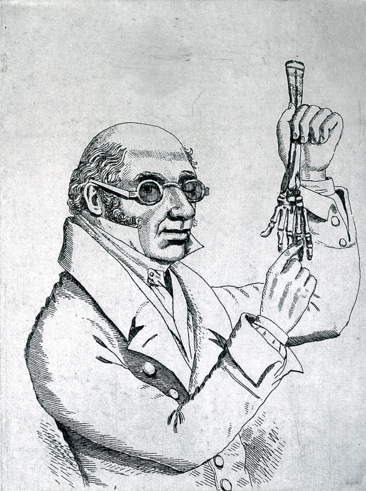 Line engraving of Robert Knox. (Wellcome Collection.)