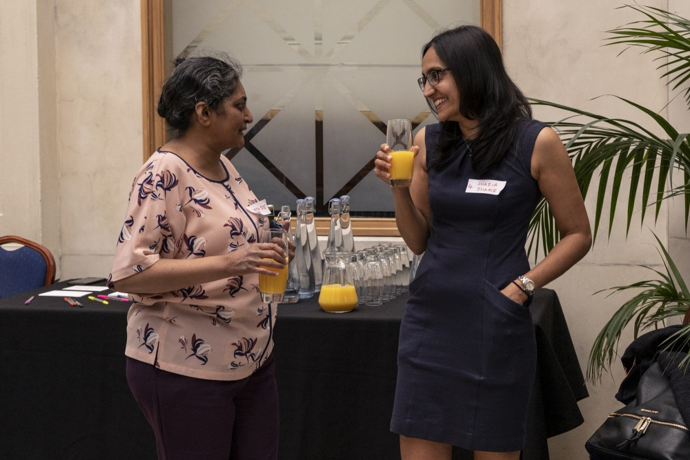 The event opened with welcome drinks and a buffet. (Photo: Ameena Rojee.)